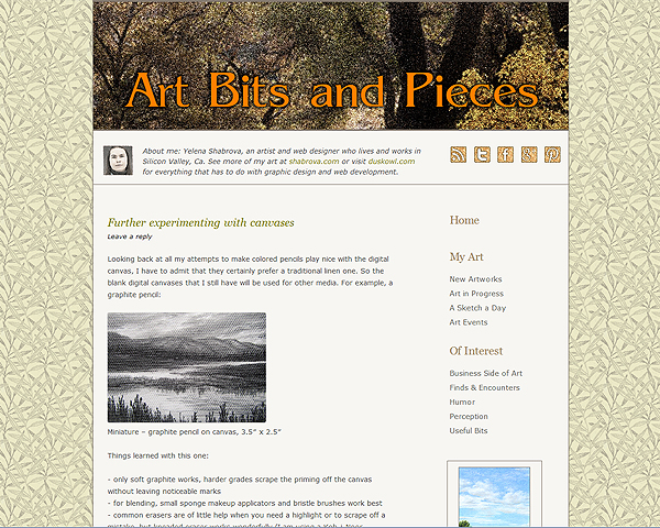 Web site for Art Bits and Pieces